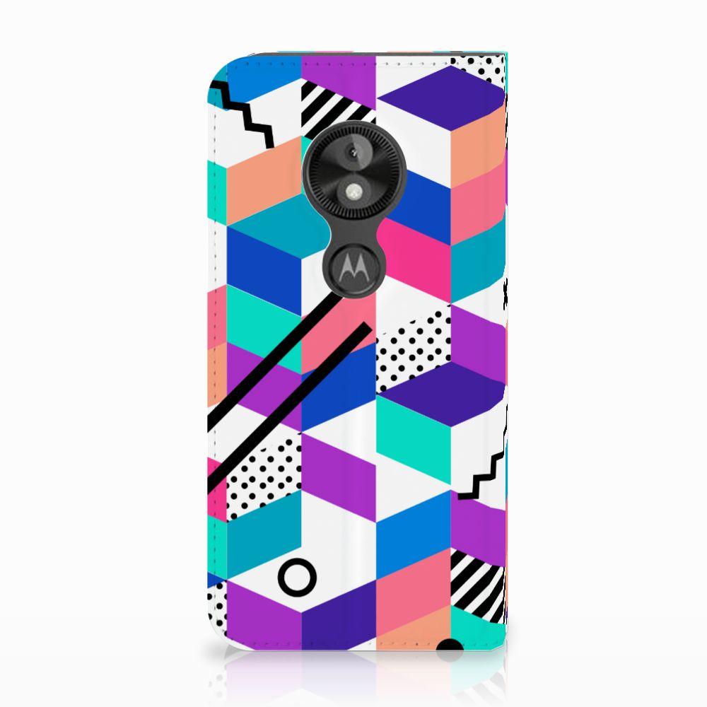 Motorola Moto E5 Play Standcase Hoesje Design Blocks Colorful