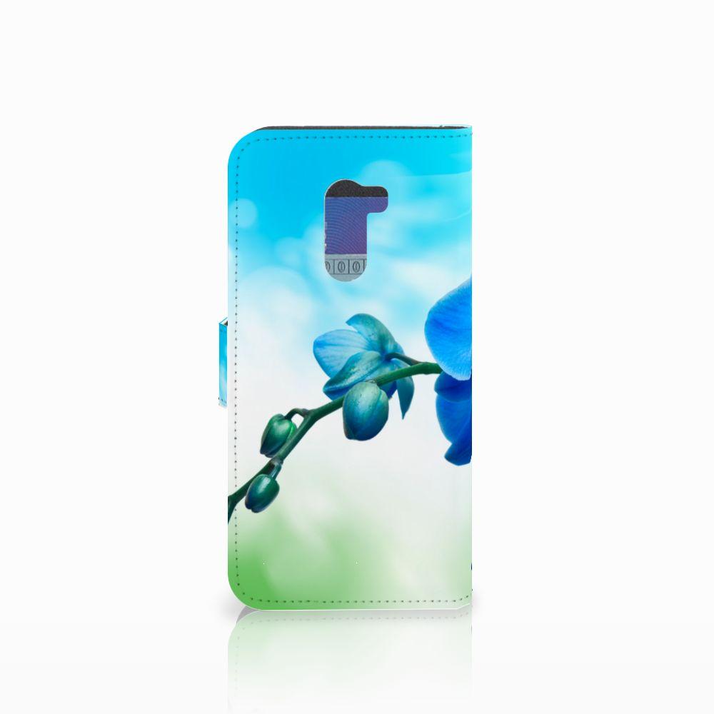 Xiaomi Pocophone F1 Hoesje Orchidee Blauw