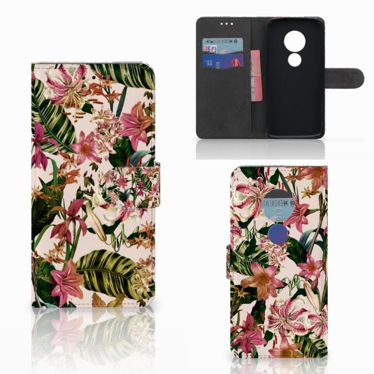 Motorola Moto E5 Hoesje Flowers