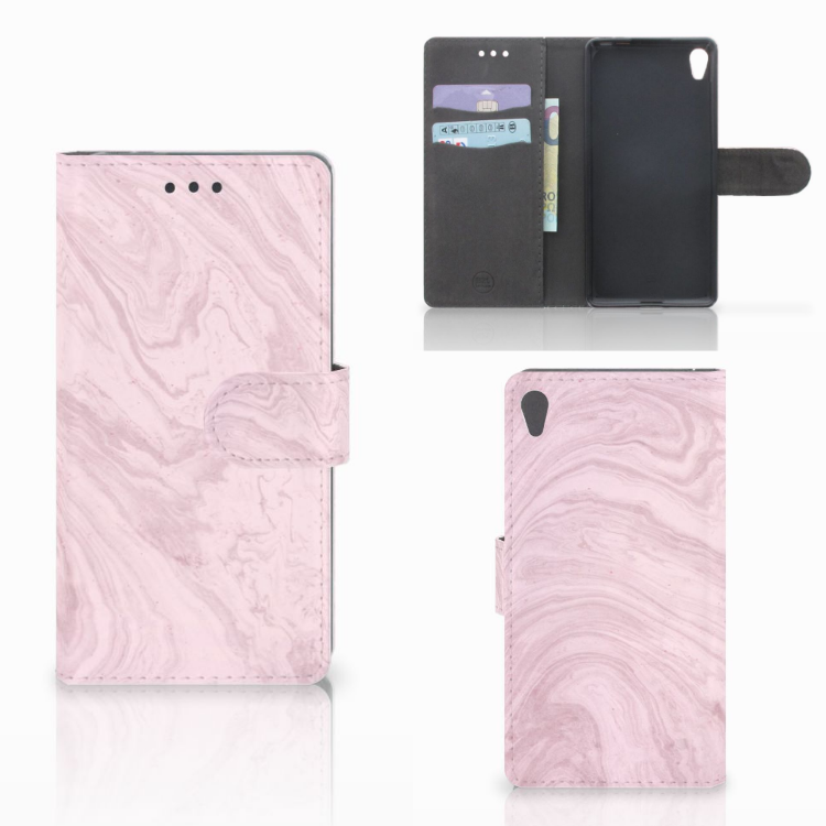 Sony Xperia E5 Bookcase Marble Pink