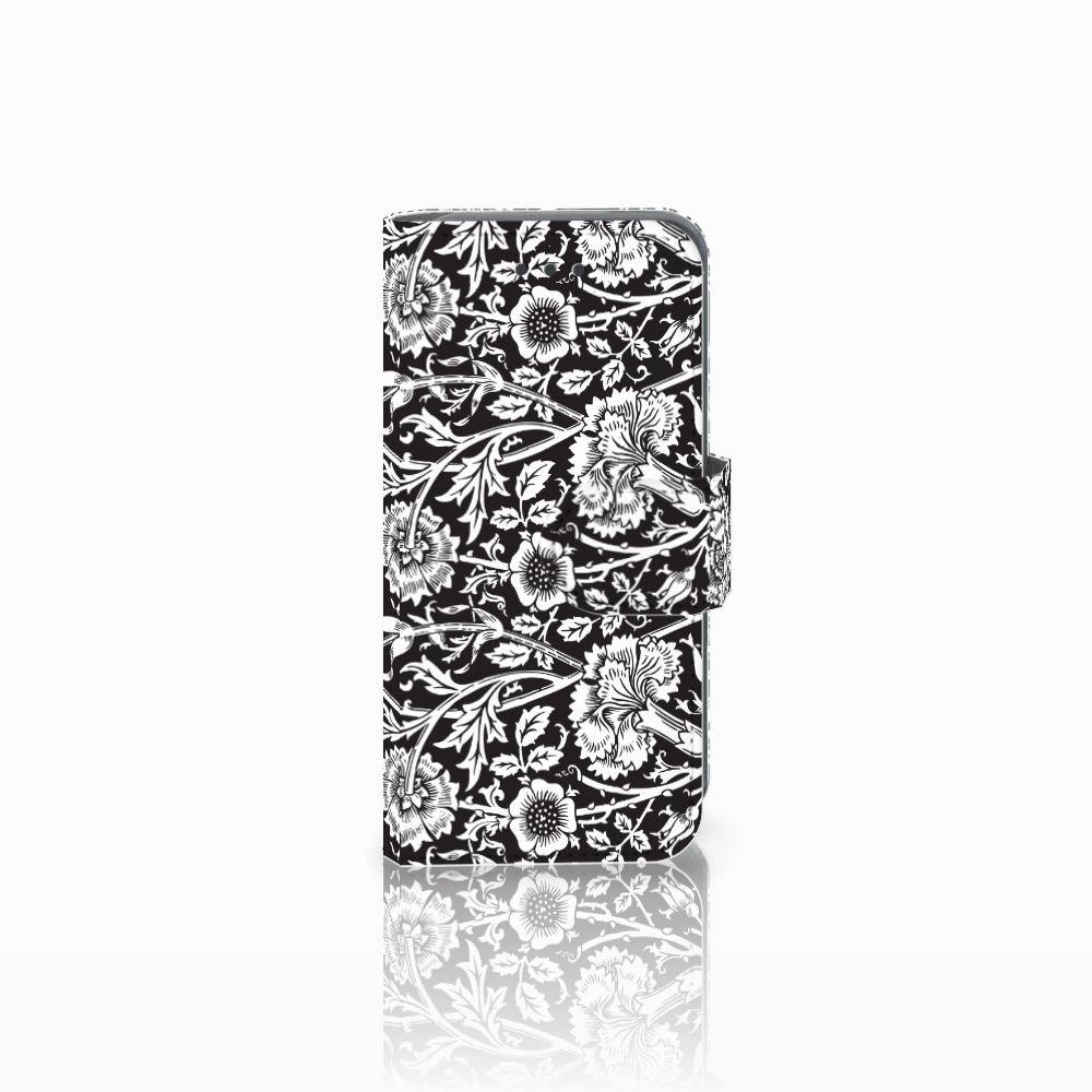 Apple iPod Touch 5 | 6 Uniek Boekhoesje Black Flowers