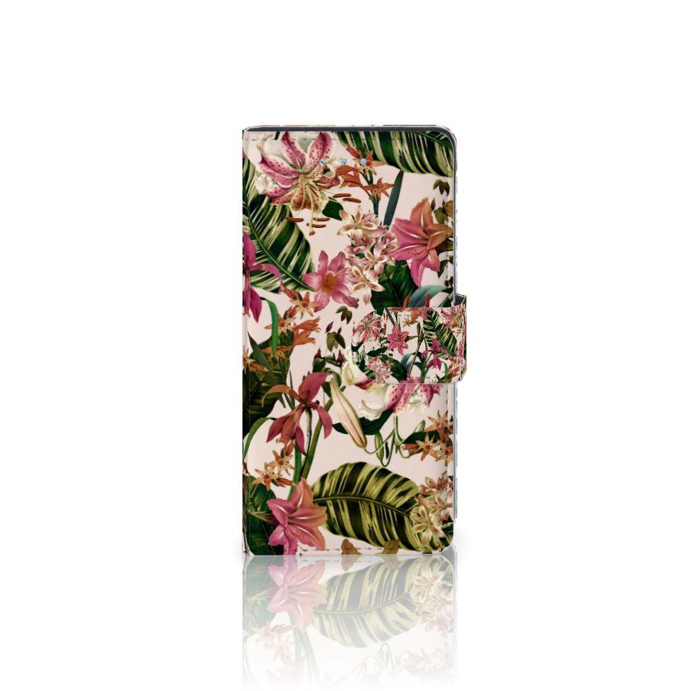 Huawei P9 Lite Uniek Boekhoesje Flowers