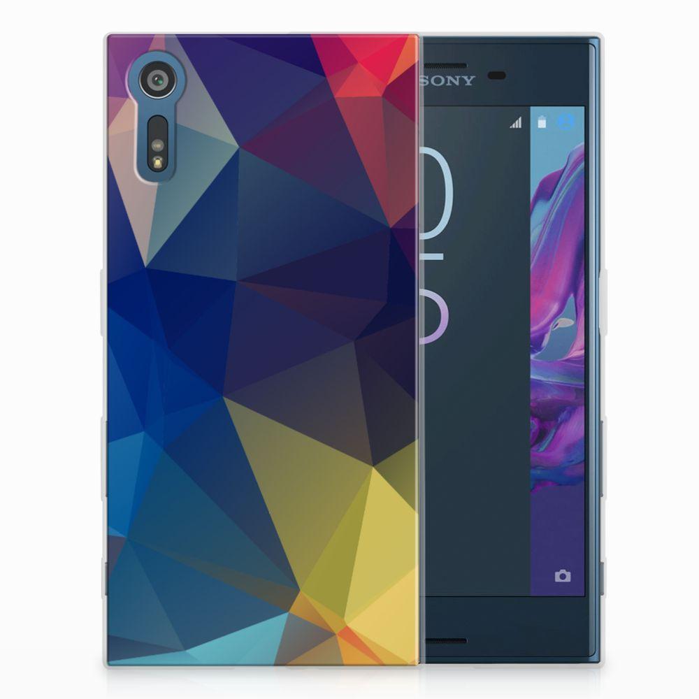 Sony Xperia XZs | XZ Uniek TPU Hoesje Polygon Dark