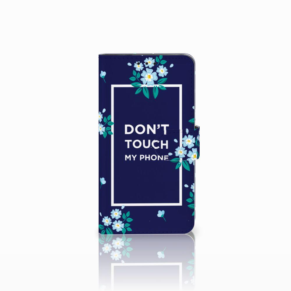 Huawei Honor 6X Boekhoesje Flowers Blue DTMP