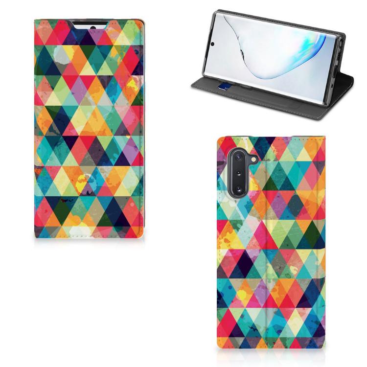 Samsung Galaxy Note 10 Hoesje met Magneet Geruit