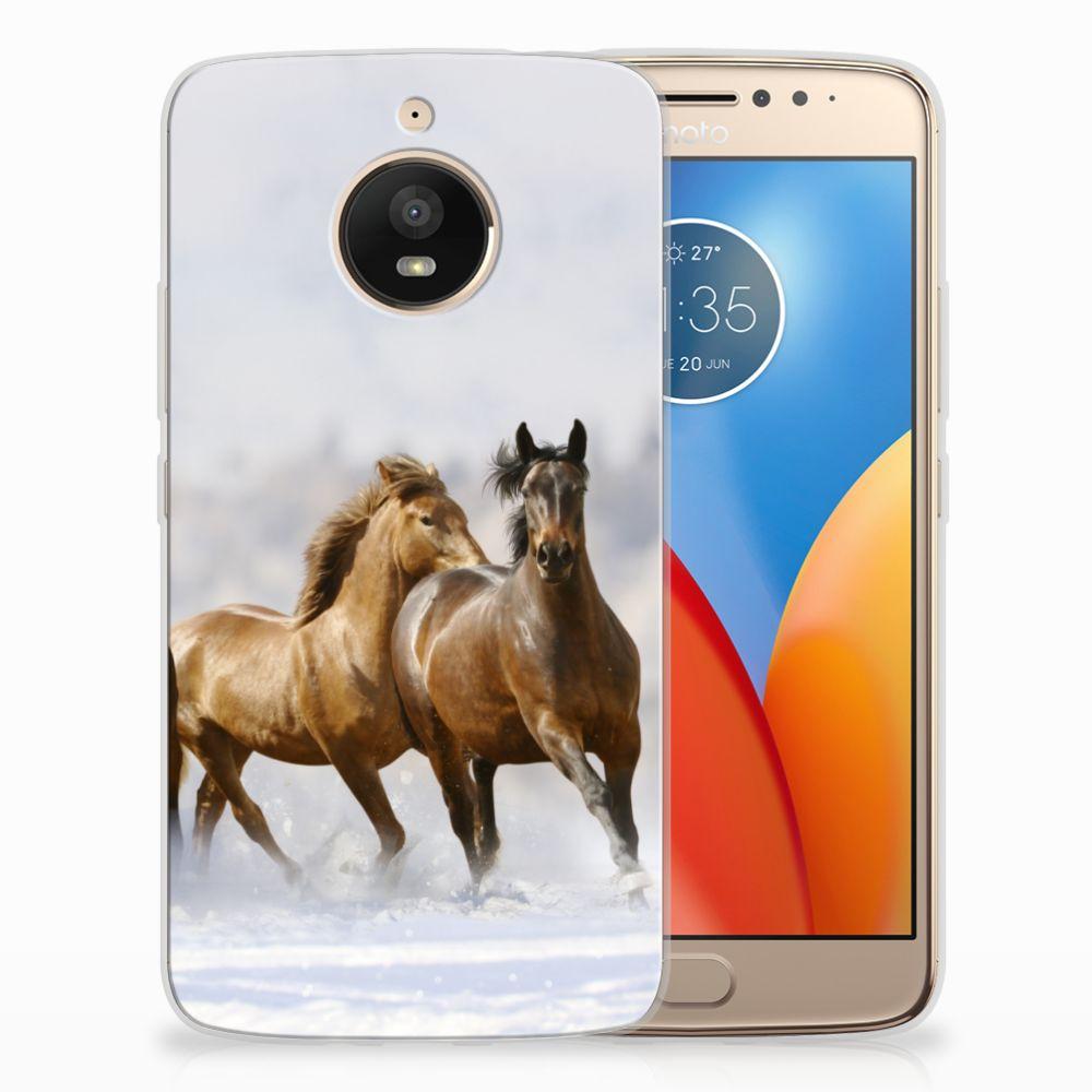 Motorola Moto E4 Plus Uniek TPU Hoesje Paarden