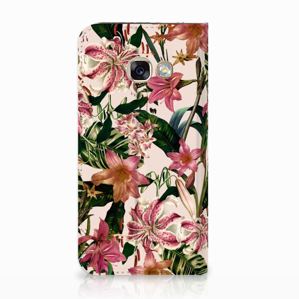 Samsung Galaxy A3 2017 Uniek Standcase Hoesje Flowers