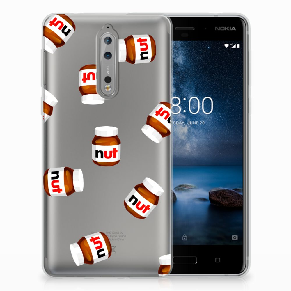Nokia 8 Siliconen Case Nut Jar