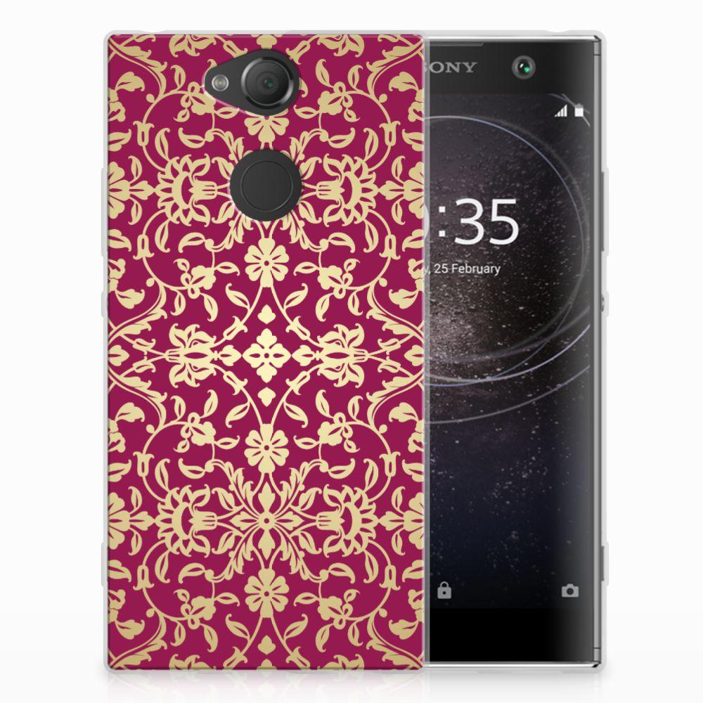 Sony Xperia XA2 TPU Hoesje Design Barok Pink