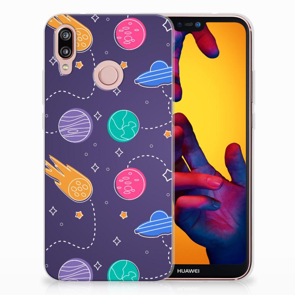 Huawei P20 Lite Uniek TPU Hoesje Space