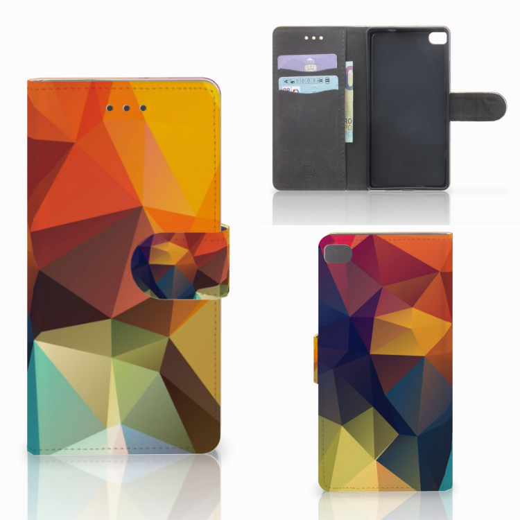 Huawei P8 Bookcase Polygon Color