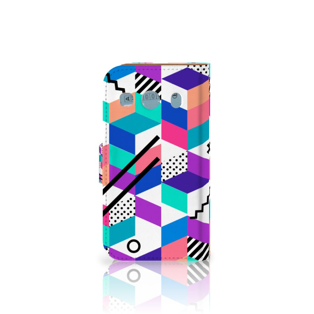 Samsung Galaxy Ace 4 4G (G357-FZ) Bookcase Blokken Kleurrijk