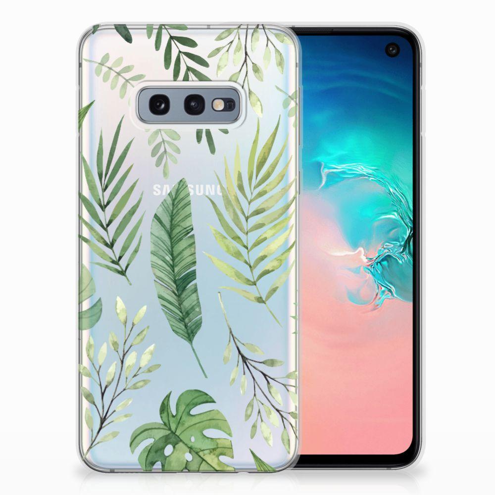Samsung Galaxy S10e Uniek TPU Hoesje Leaves