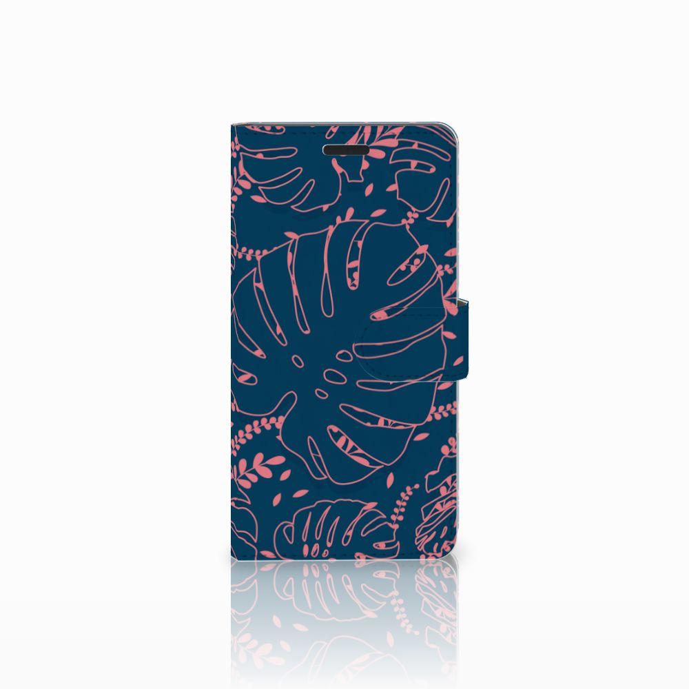 Samsung Galaxy A7 2015 Boekhoesje Design Palm Leaves