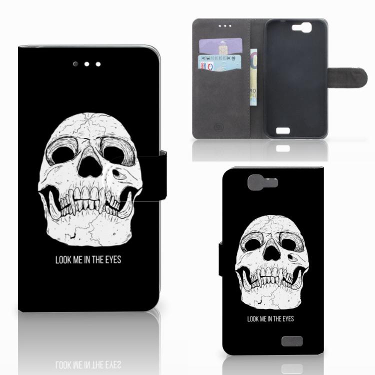 Telefoonhoesje met Naam Huawei Ascend G7 Skull Eyes