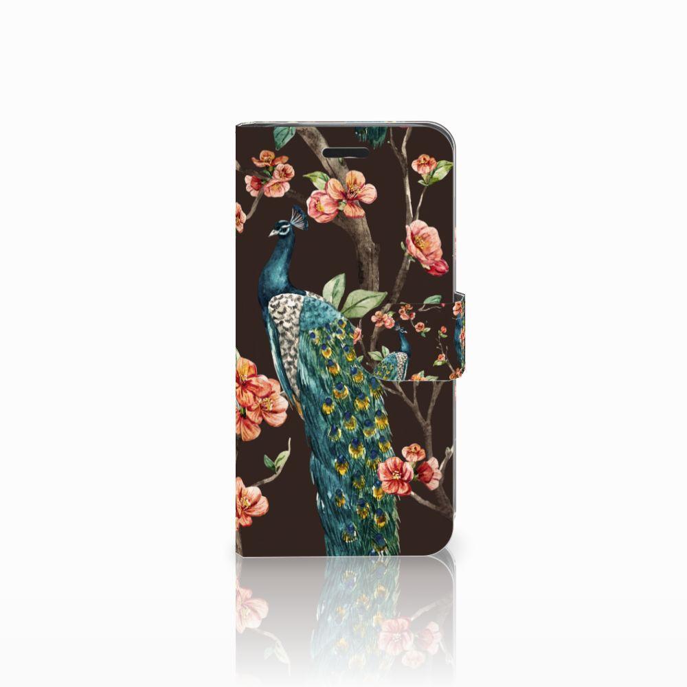 Acer Liquid Z530 | Z530s Boekhoesje Design Pauw met Bloemen