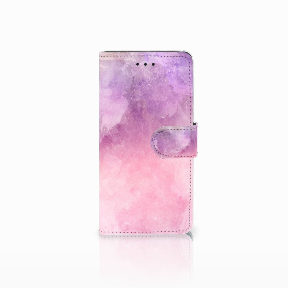 Huawei Y5 2018 Boekhoesje Design Pink Purple Paint