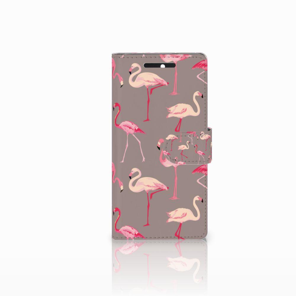 HTC Desire 628 Uniek Boekhoesje Flamingo