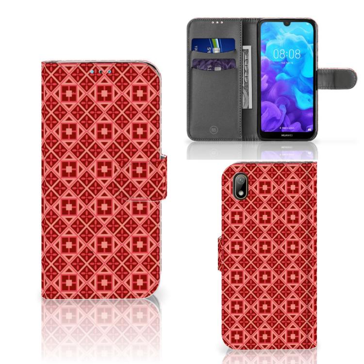 Huawei Y5 (2019) Telefoon Hoesje Batik Rood