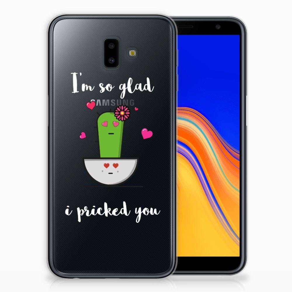 Samsung Galaxy J6 Plus (2018) Telefoonhoesje met Naam Cactus Glad