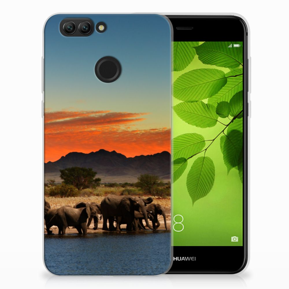 Huawei Nova 2 TPU Hoesje Olifanten