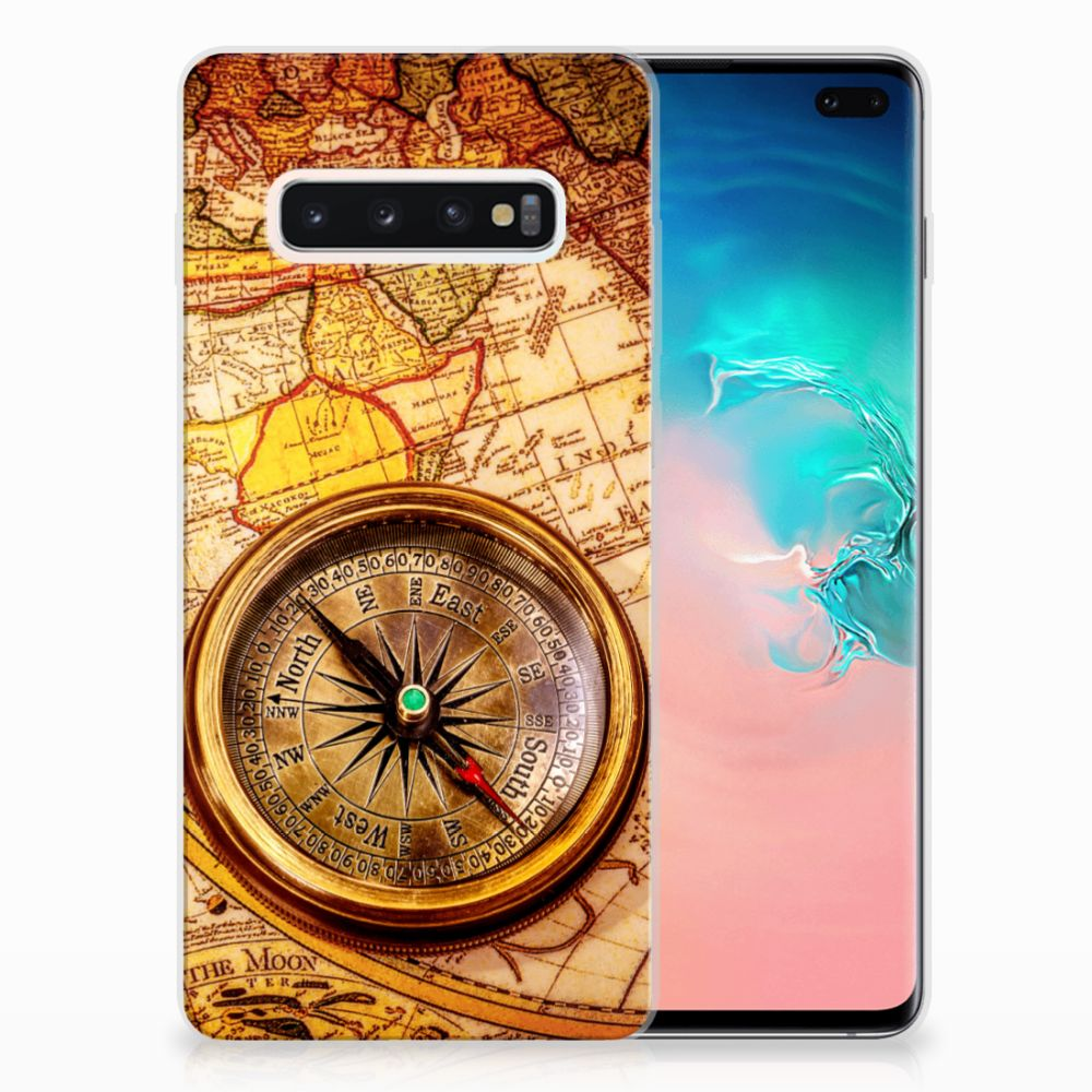 Samsung Galaxy S10 Plus Siliconen Back Cover Kompas