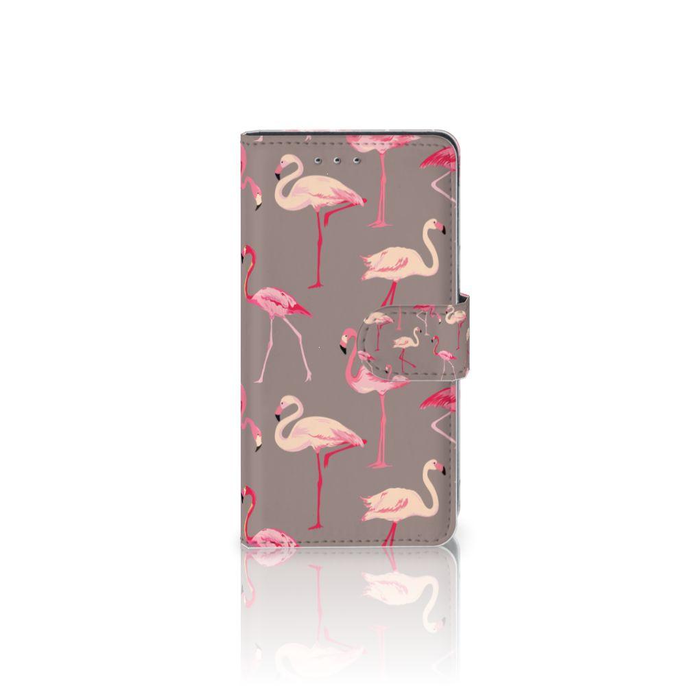 Motorola Moto G 3e Generatie Telefoonhoesje met Pasjes Flamingo