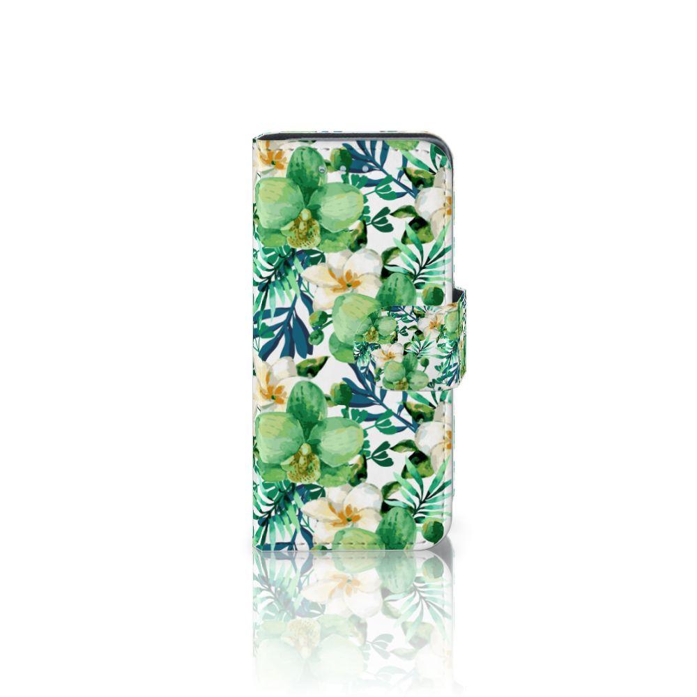 Samsung Galaxy S4 Mini i9190 Uniek Boekhoesje Orchidee Groen