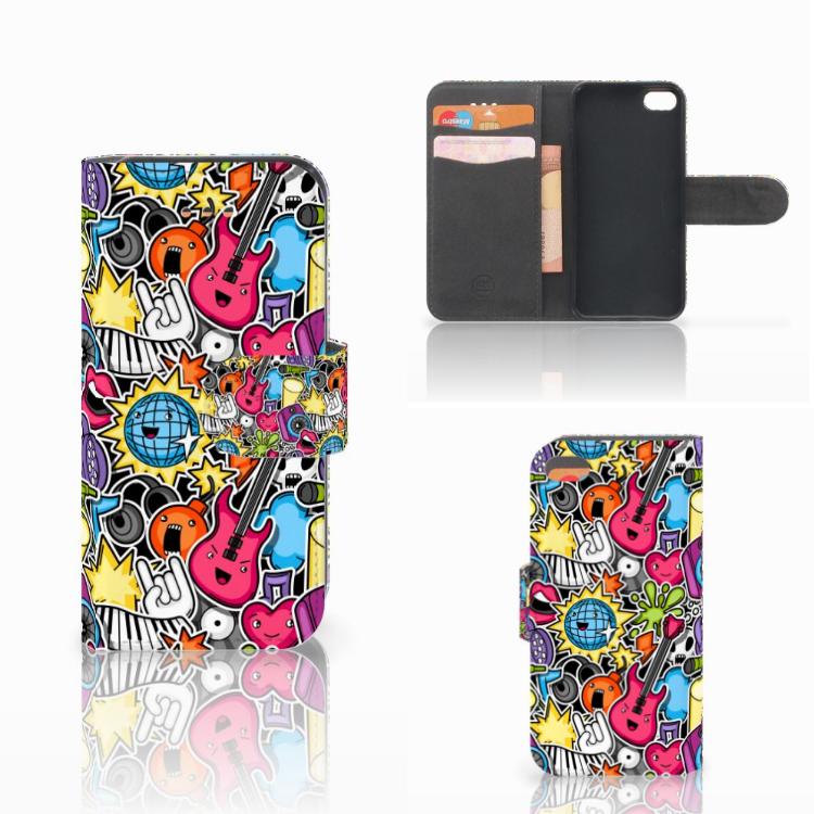 Apple iPhone 5C Wallet Case met Pasjes Punk Rock