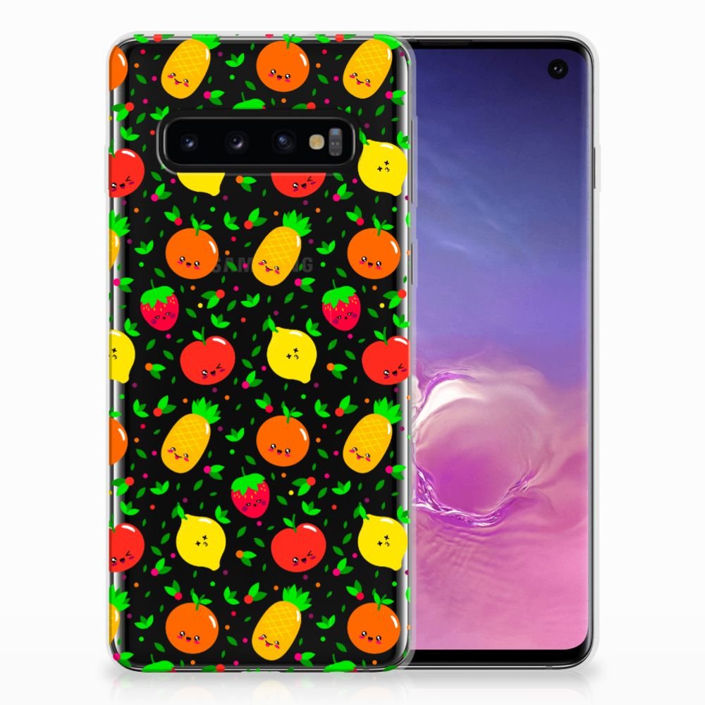 Samsung Galaxy S10 Siliconen Case Fruits