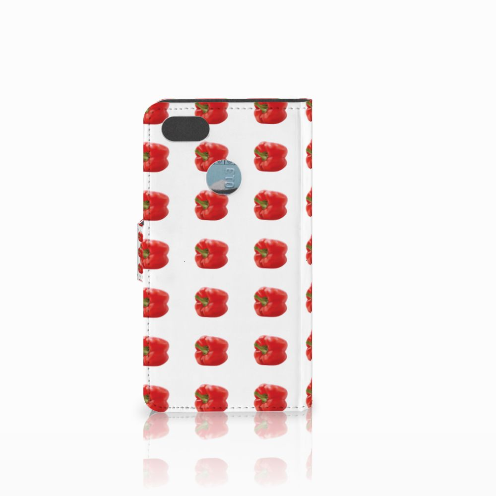 Huawei Y6 Pro 2017 Book Cover Paprika Red