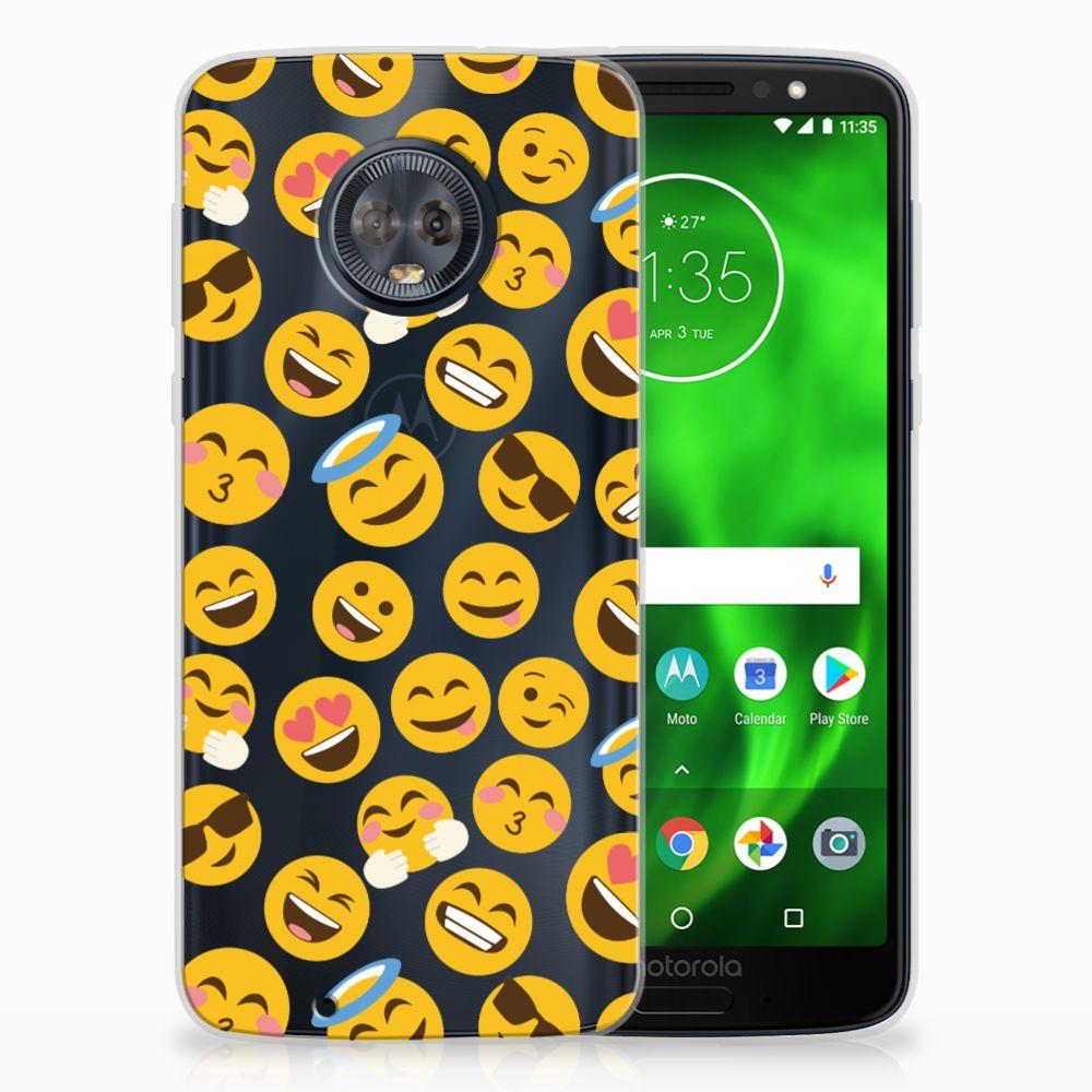 Motorola Moto G6 TPU Hoesje Design Emoji