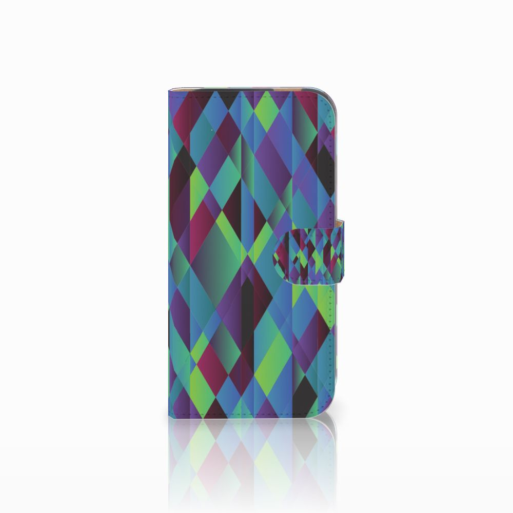 HTC One M8 Bookcase Abstract Green Blue