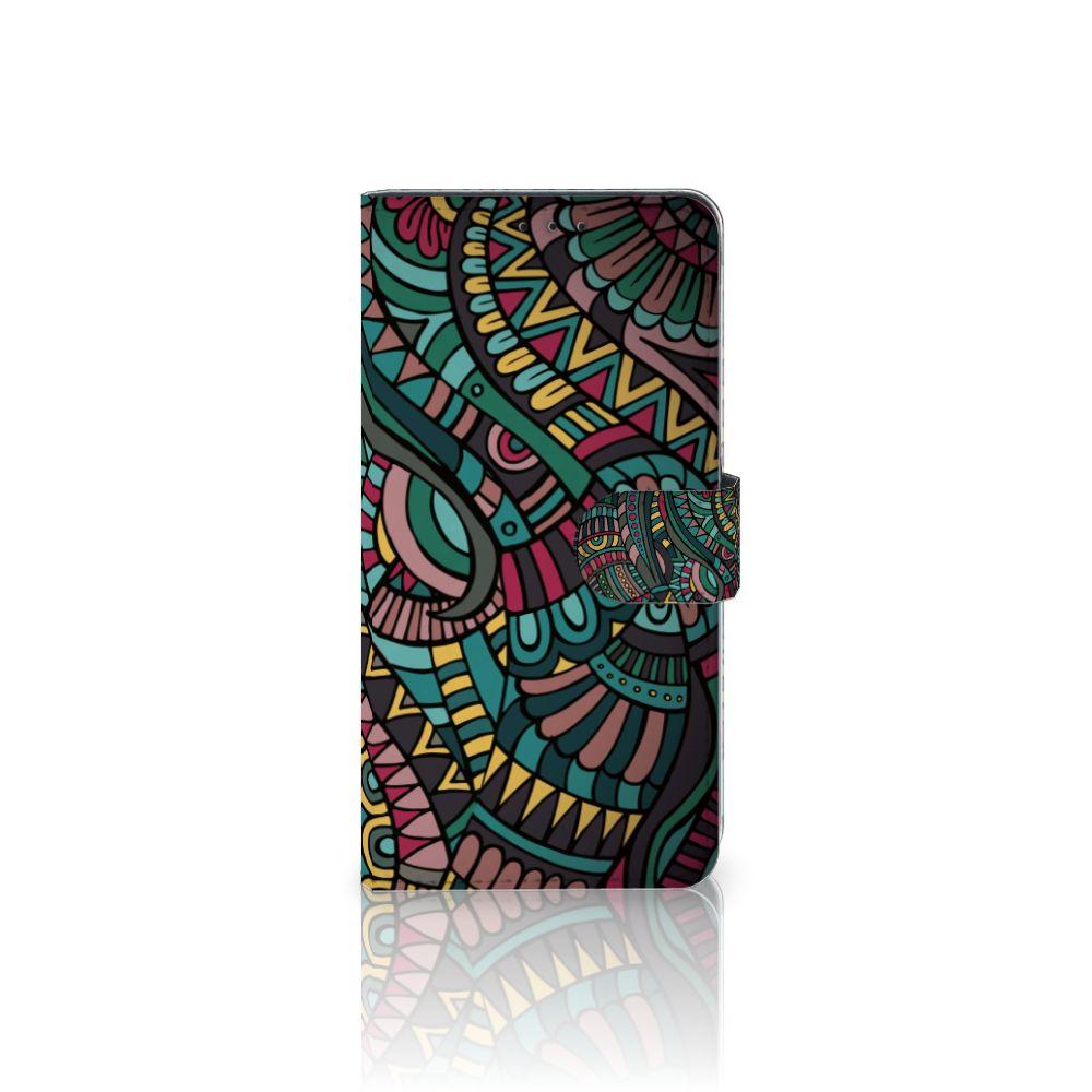 Samsung Galaxy A8 Plus (2018) Boekhoesje Design Aztec