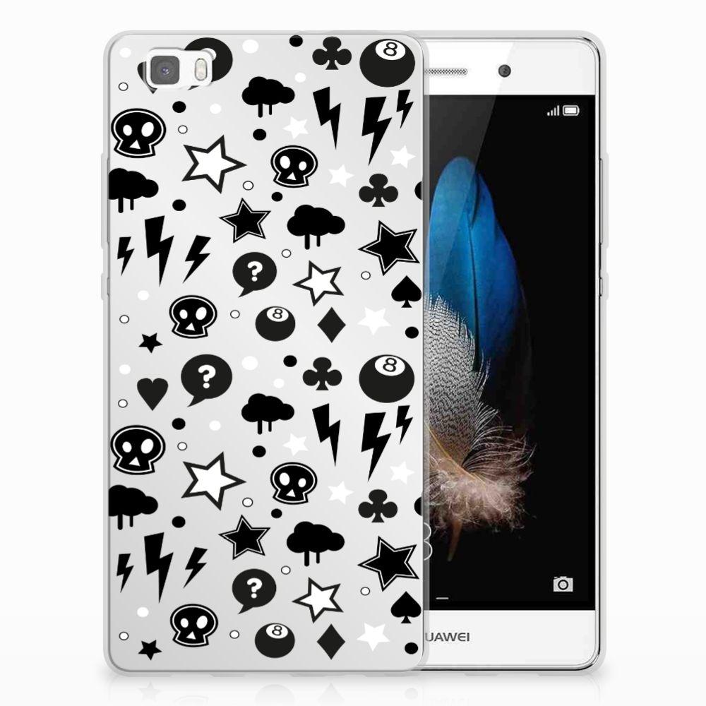 Silicone Back Case Huawei Ascend P8 Lite Silver Punk