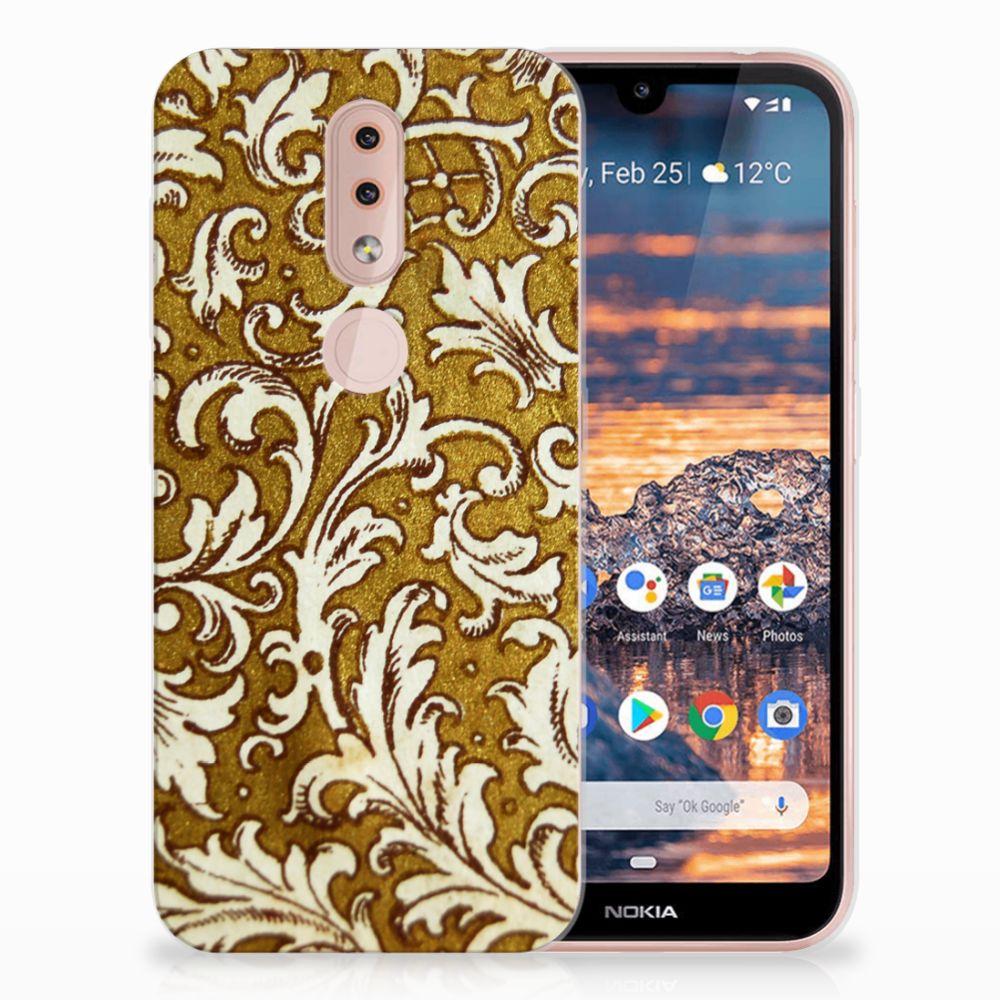 Siliconen Hoesje Nokia 4.2 Barok Goud