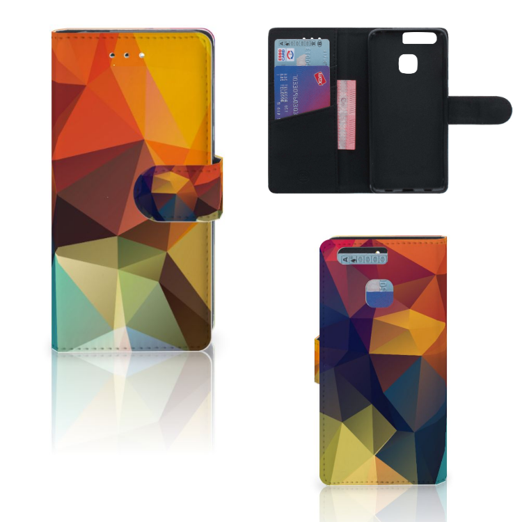 Huawei P9 Bookcase Polygon Color