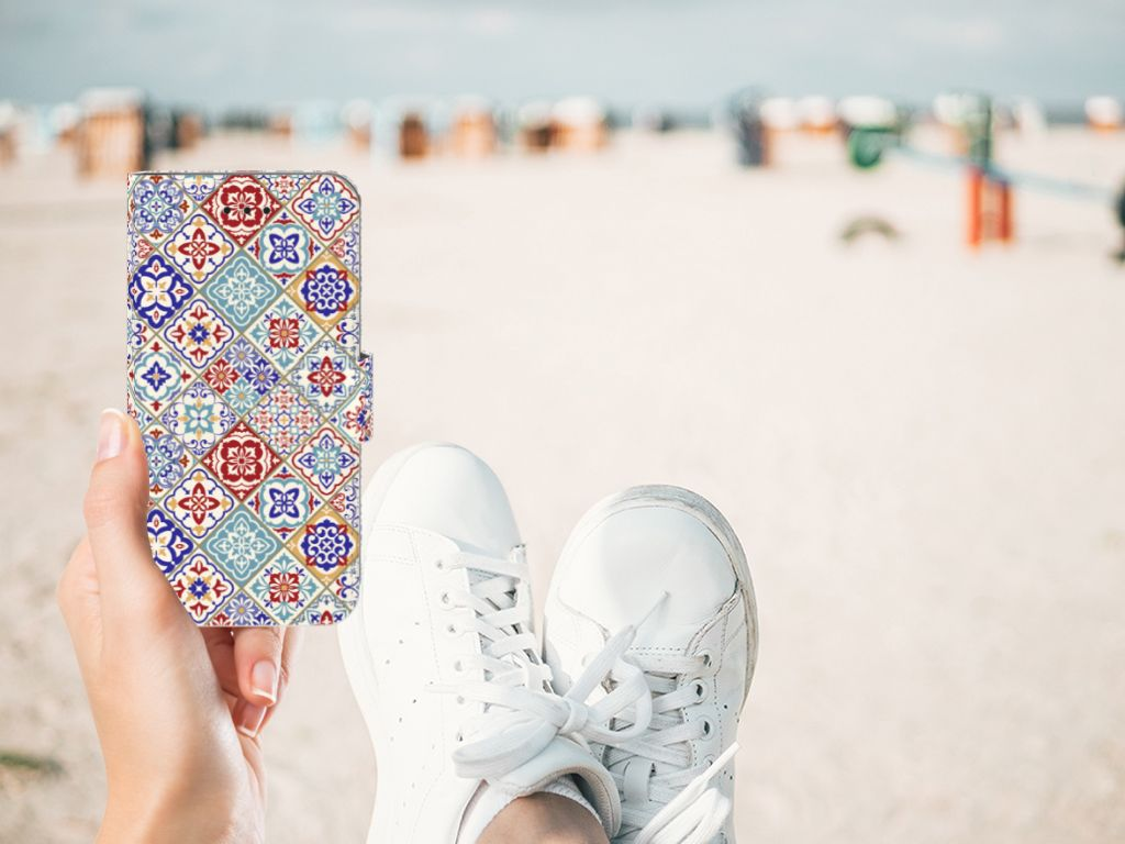Apple iPhone X | Xs Uniek Boekhoesje Tiles Color
