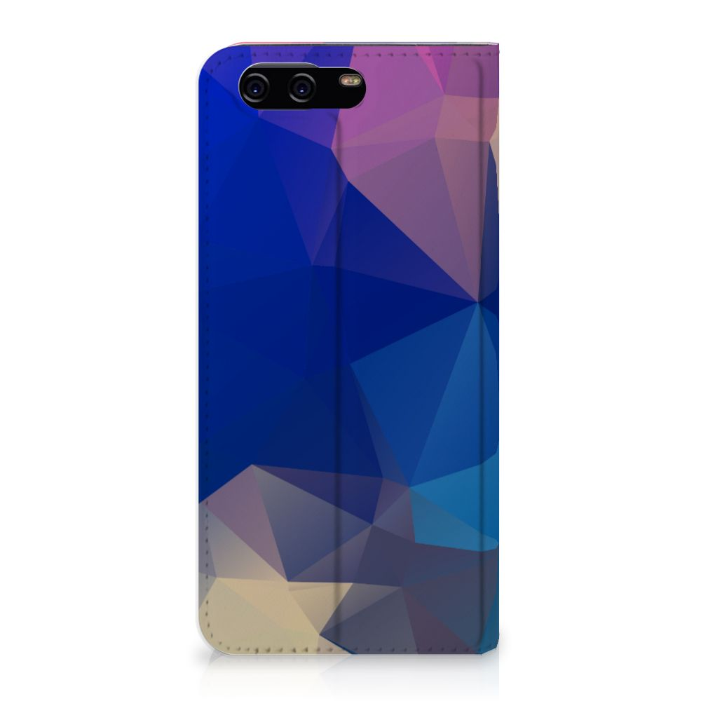 Huawei P10 Stand Case Polygon Dark