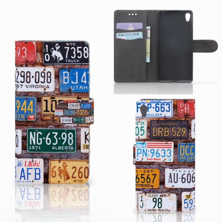 Sony Xperia E5 Telefoonhoesje met foto Kentekenplaten