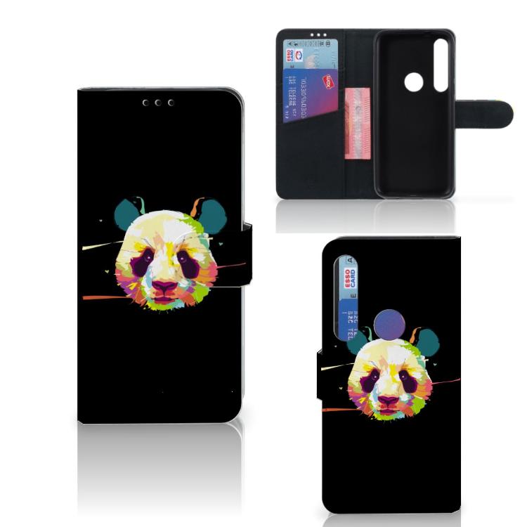 Motorola Moto G8 Plus Leuk Hoesje Panda Color