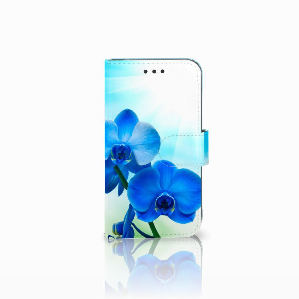 Samsung Galaxy S3 i9300 Boekhoesje Design Orchidee Blauw