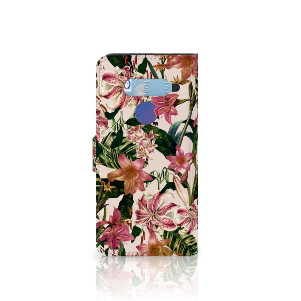 LG V40 Thinq Hoesje Flowers