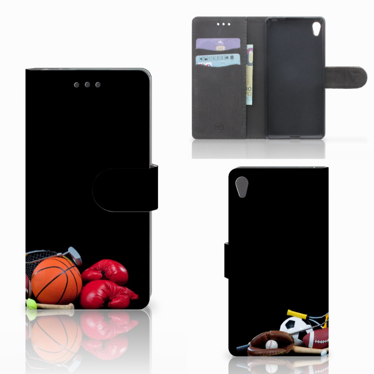 Sony Xperia E5 Wallet Case met Pasjes Sports