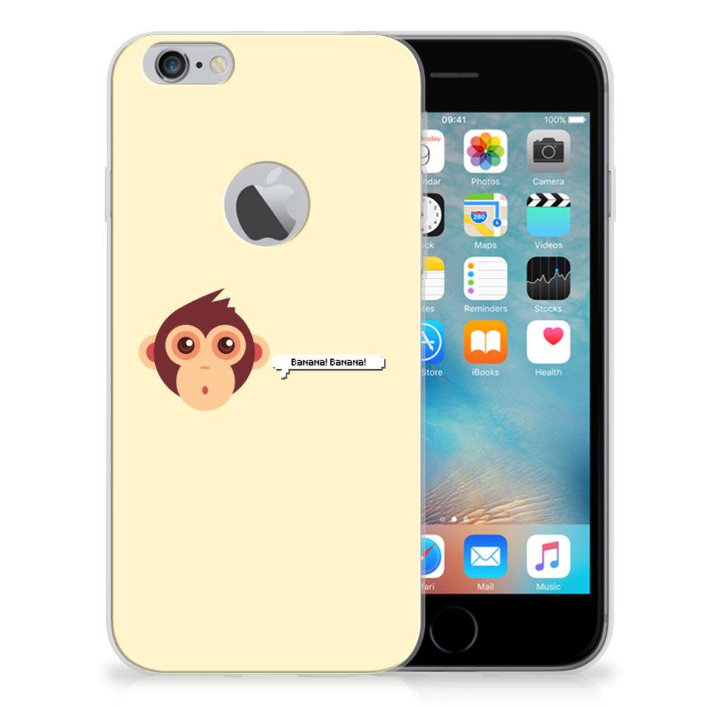 Apple iPhone 6 Plus | 6s Plus Telefoonhoesje met Naam Monkey