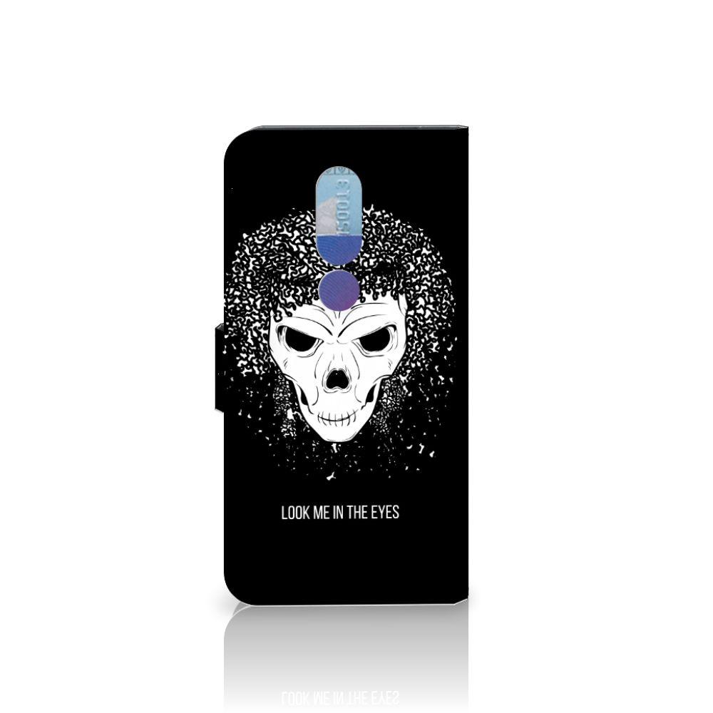 Telefoonhoesje met Naam Nokia 7.1 Skull Hair
