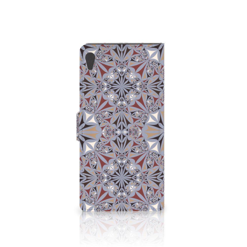 Sony Xperia XA Ultra Bookcase Flower Tiles