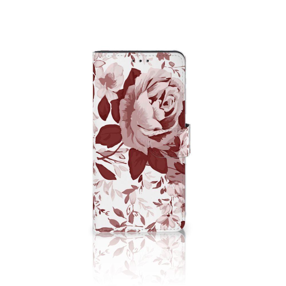 Samsung Galaxy A7 (2018) Uniek Boekhoesje Watercolor Flowers