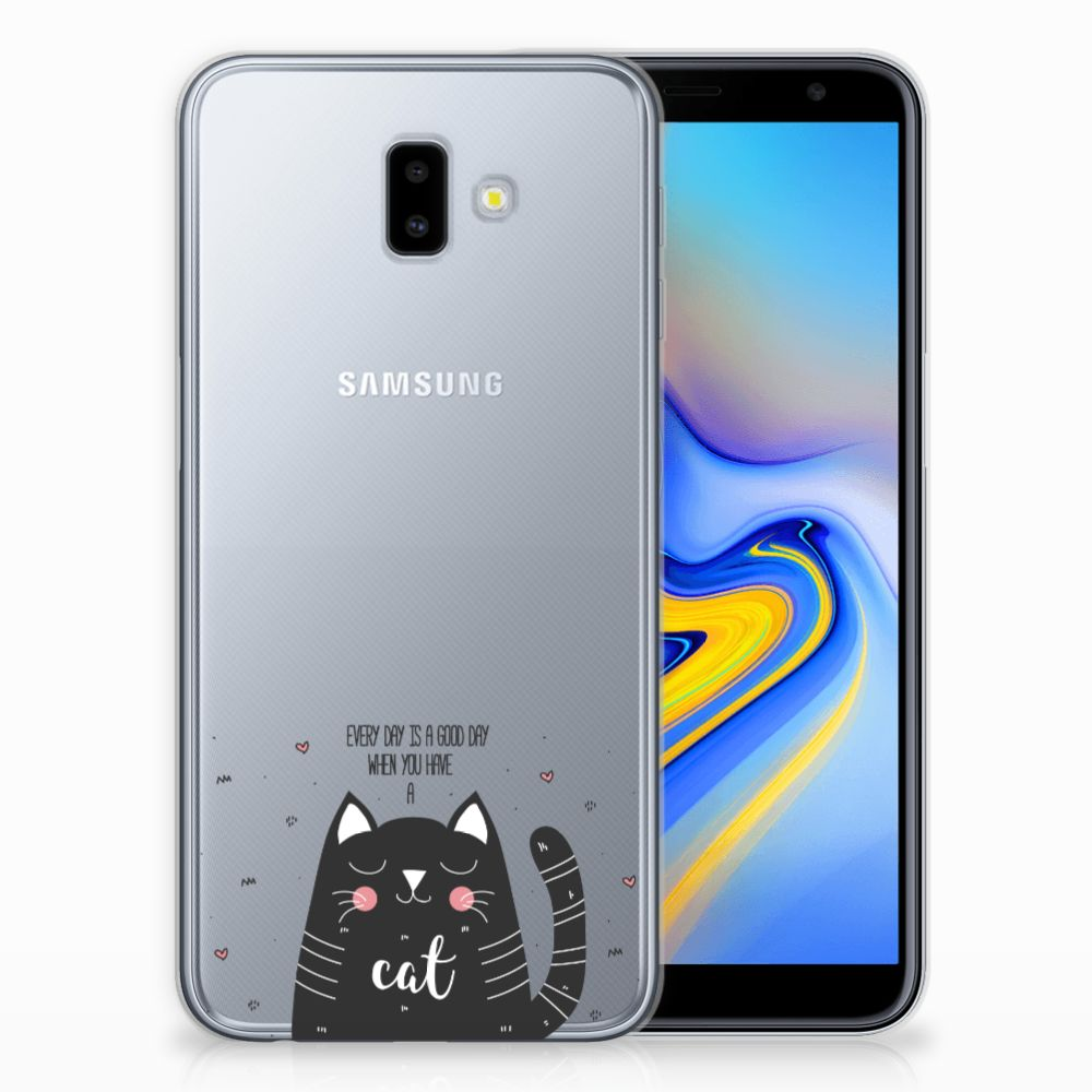 Samsung Galaxy J6 Plus (2018) Telefoonhoesje met Naam Cat Good Day