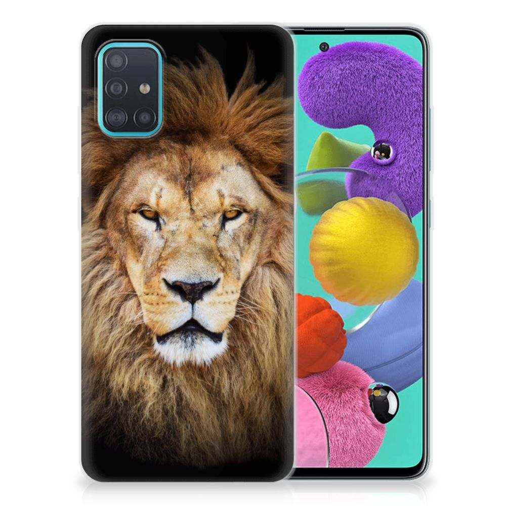 Samsung Galaxy A51 TPU Hoesje Leeuw